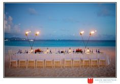 Lovely set up for a beach wedding