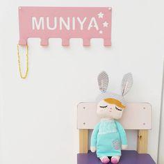 Kids Room Decor - Kids Name Wall Hanger, Kids Room wall hanger, child name - FREE SHIPPING #kids #room #decor #wall #hooks #child #kidsroom #hanger