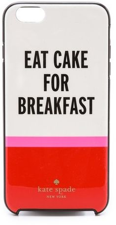 Kate Spade New York Eat Cake For Breakfest iPhone 6 Plus Case