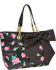BOW TASTIC TOTE FLORAL