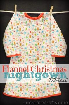 Riley Blake Flannel Nightgown Tutorial u-createcrafts.com