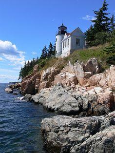 Bass Harbor Head Lighthouse, Acadia National Park, Maine, USA