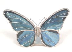Stain Glass Butterfly Votive / Tealight Candle Holder FREE SHIPPING