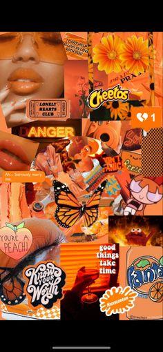 Funny Iphone Wallpaper, Iphone Wallpaper Tumblr Aesthetic, Iphone Background Wallpaper, Aesthetic Pastel Wallpaper, Aesthetic Wallpapers, Pineapple Wallpaper, Orange Wallpaper, Mood Wallpaper, Colorful Wallpaper