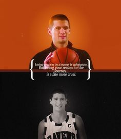 """Losing your way on a journey is unfortunate.  But losing your reason for the journey... is a fate more cruel."" -Nathan Scott"