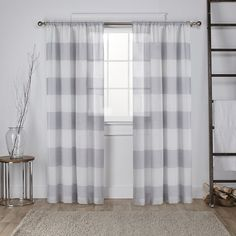 Plant City Striped Sheer Rod Pocket Curtain Panels (480 DKK) ❤ liked on Polyvore featuring home, home decor, window treatments, curtains, stripe sheer curtains, stripe window panel, rod pocket curtain panels, striped draperies and striped curtain panels