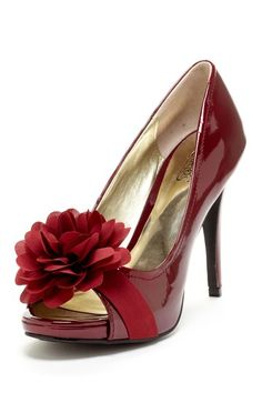 Carlos by Carlos Santana Cupcake Open Toe Flower Pump by Say Hello to Spring on @HauteLook