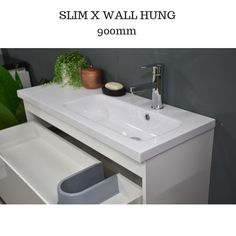 Slimline Wall Hung Bathroom Cabinets
