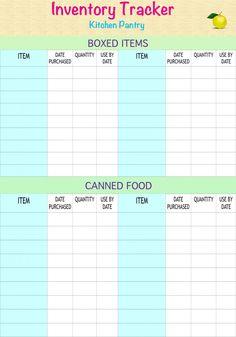 #FREEPRINTABLE  Pantry Inventory Tracker!