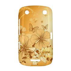 Wonderful+Flowers+With+Butterflies+BlackBerry+Curve+9380+BlackBerry+Curve+9380+Hardshell+Case