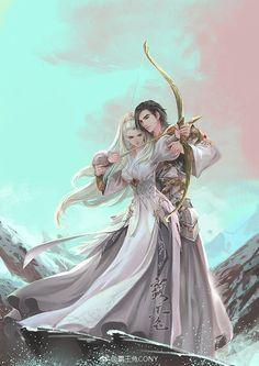 Manga Couple, Anime Love Couple, Couple Art, Anime Couples Drawings, Anime Couples Manga, Cute Anime Couples, Fantasy Love, Anime Fantasy, Magic Anime