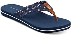 Tommy Hilfiger Women's Cafe Anchors Flip-Flop Sandals