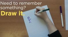 Researchers have found that drawing pictures of information that needs to be remembered is a strong and reliable strategy to enhance memory.