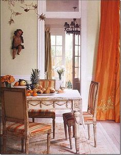 .those drapery are wonderful so is the garland trim on the table great details