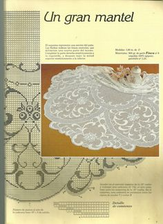 It is a website for handmade creations,with free patterns for croshet and knitting , in many techniques & designs. Filet Crochet Charts, Crochet Diagram, Crochet Motif, Crochet Doilies, Crochet Patterns, Crochet Home, Irish Crochet, Thread Crochet, Crochet Stitches