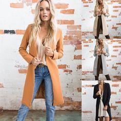 Winter Long Sleeve Coat Trench Parka Jacket Overcoat Outwear Women Warm Cardigan