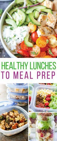 Loving these healthy lunches to meal prep!