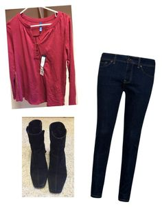 """""""Casual Maroon Leggings"""" by amy-flannery-skaar on Polyvore featuring Jack Wills"""