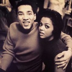 Smokey Robinson singer songwriter record Producer motown Detroit African American and Tami Terrell Music Icon, Soul Music, Indie Music, Tammi Terrell, Tamla Motown, Smokey Robinson, Vintage Black Glamour, Vintage Beauty, Old School Music