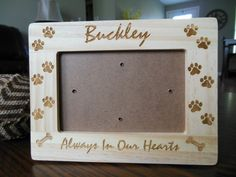 Hey, I found this really awesome Etsy listing at https://www.etsy.com/listing/222497824/always-in-our-hearts-pet-memorial-frame