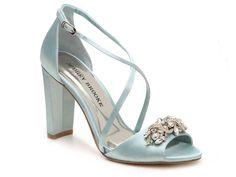 28230bba72b4 Ella Sandal by Audrey Brooke Blue Block Heels
