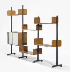 Another mid-century modular room divider shelving system.