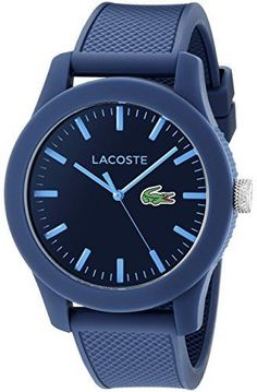 Lacoste Unisex 43mm Blue Silicone Band Plastic Case Quartz Watch 2010765    eBay a45ad0509d8