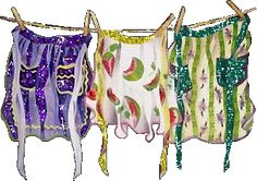 Laundry on a clothesline.....never see clotheslines.