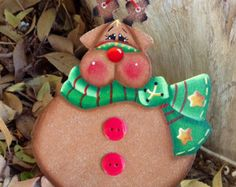 Jolly Ol Santa Ornament by CountryCharmers on Etsy