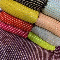 *Pure viscose georget zari with sequin work available * per mtr* Silk Kurti Designs, Kurta Designs Women, Kurti Designs Party Wear, Pakistani Formal Dresses, Pakistani Fashion Casual, Neck Designs For Suits, Designs For Dresses, Gota Patti Jewellery, Dress Indian Style