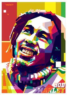 BOB MARLY WPAP #popart #artwork #vector #illustration #portrait