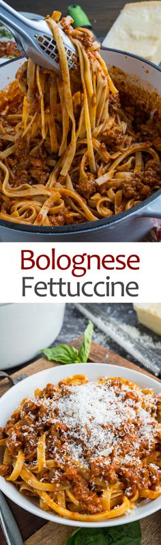 Bolognese Sauce : Bolognese Sauce An easy traditional bolognese (Italian style meat and tomato sauce) that slowly simmers to flavour perfection. Pasta Recipes, Beef Recipes, Dinner Recipes, Cooking Recipes, Recipies, Italian Dishes, Italian Recipes, Italian Pasta, Beste Bolognese Sauce
