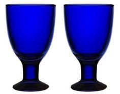 Iittala Verna Wine Glass Cobalt Blue Design Kerttu Nurminen Finland in Pottery & Glass, Glass, Art Glass Wine Glass, Glass Art, Blue Design, Hurricane Glass, Cobalt Blue, Finland, Scandinavian, Candle Holders, Blue And White