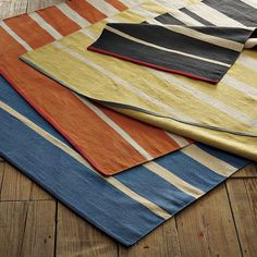 Gradiated-Stripe Cotton Rug | west elm  5X8 $99