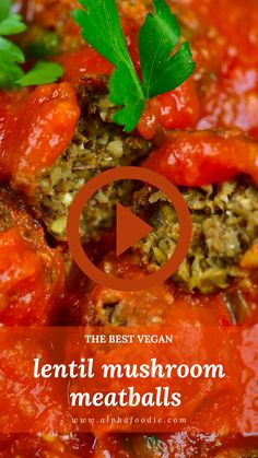 These Lentil & mushroom vegan meatballs are served in a simple tomato sauce and are dairy-free, gluten-free, healthy and absolutely delicious served with spaghetti, in a sub, and a variety of other dishes. Vegan Foods, Vegan Recipes, Cooking Recipes, Dairy Free Sauces, Veggie Spaghetti, Easy Tomato Sauce, Vegan Meatballs, Plant Based Recipes, Vegan Life