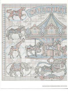 Antique Carousel Part 2 of 3 Cross Stitch Books, Just Cross Stitch, Beaded Cross Stitch, Crochet Cross, Cross Stitch Baby, Cross Stitch Animals, Modern Cross Stitch, Cross Stitch Embroidery, Blackwork Cross Stitch