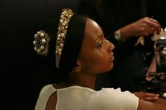 Backstage at Dolce & Gabbana RTW Fall 2012