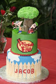 Phineas and Ferb Cake-LOVE this!