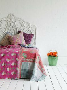 kantha throw - Google Search