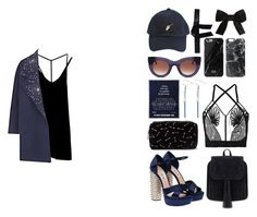 """""""113"""" by kostelom ❤ liked on Polyvore featuring RVCA, Miu Miu, La Perla, The 2nd Skin Co., Casetify, Native Union, Yves Saint Laurent, RoÃ¿ Roger's, Thierry Lasry and Forever 21"""