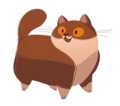 dailycatdrawings:  463: Brown Cat