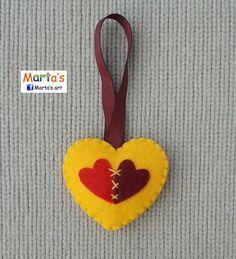 felt heart - valentine