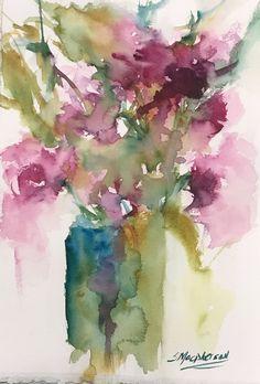 x Watercolor PaintingMedium: Watercolor on 140 lb Moulin du Roy . Colorful Art, Art Painting, Flower Art, Floral Art, Art, Card Art, Abstract, Abstract Watercolor, Floral Watercolor
