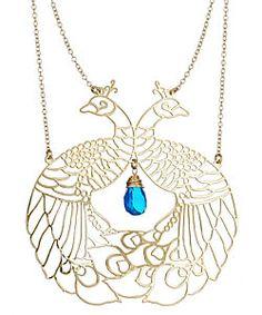 Kris Nations peacock pendant necklace