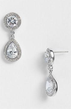 Nadri Crystal & Cubic Zirconia Drop Earrings (Nordstrom Exclusive) available at #Nordstrom