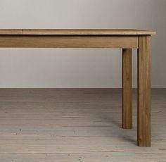 Drifted Oak Parsons Extension Rectangular Table   RH