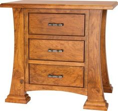 beautiful solid wood rustic cherry nightstand with soft close drawers any wood any finish bedroom furniture amish cherry wood cherry wood furniture
