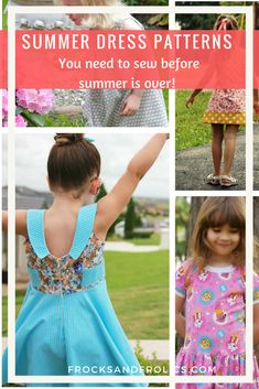 Summer sewing may be winding down, but there is still time to sew these great dresses! Lots of options for fast sewing projects. Grab that favorite summer fabric and sew up a dress. Plenty of time to spin and twirl this summer still. #sewing #sewingpattern #sewingforgirls #diy #pdfpattern