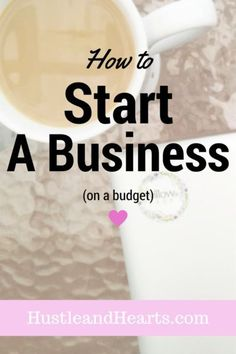 You don't have to spend a lot of money to start your own business. Learn how to start a business on a budget on Hustle and Hearts business on budget, business owners with small budgets, budgeting for your business, starting a business, business finances Small Business Start Up, Small Business Marketing, Starting Your Own Business, Online Business, Business Products, Business Supplies, Finance Degree, Bakery Business, Business Advice