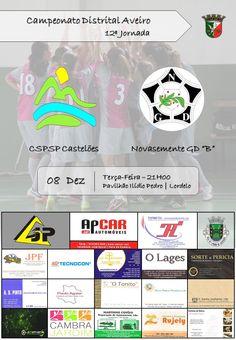 "Futsal: CSPSP Castelões vs Novasemente GD ""B"" > 8 Dezembro 2015, 21h00 @ Pavilhão Ilídio Pedro, Lordelo, Vila Chã, Vale de Cambra _ Campeonato Distrital Aveiro | Futsal Feminino_"